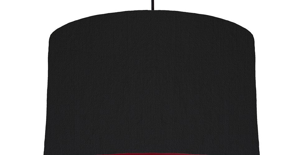 Black & Burgundy Lampshade - 40cm Wide