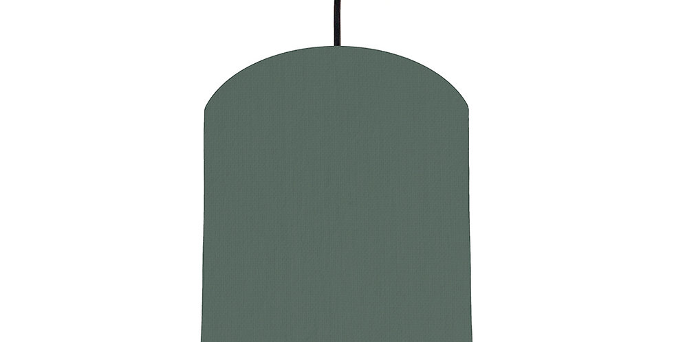 Bottle Green & Brushed Gold Lampshade - 20cm Wide