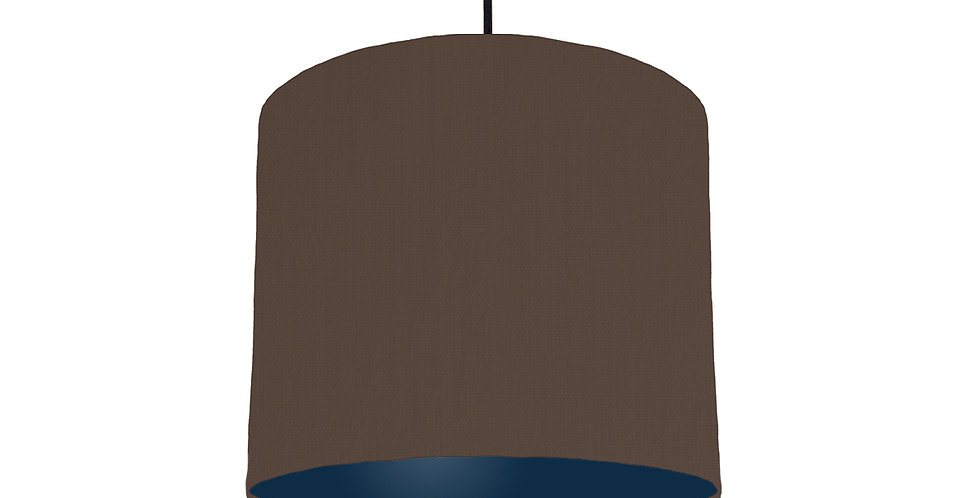 Brown & Navy Lampshade - 25cm Wide