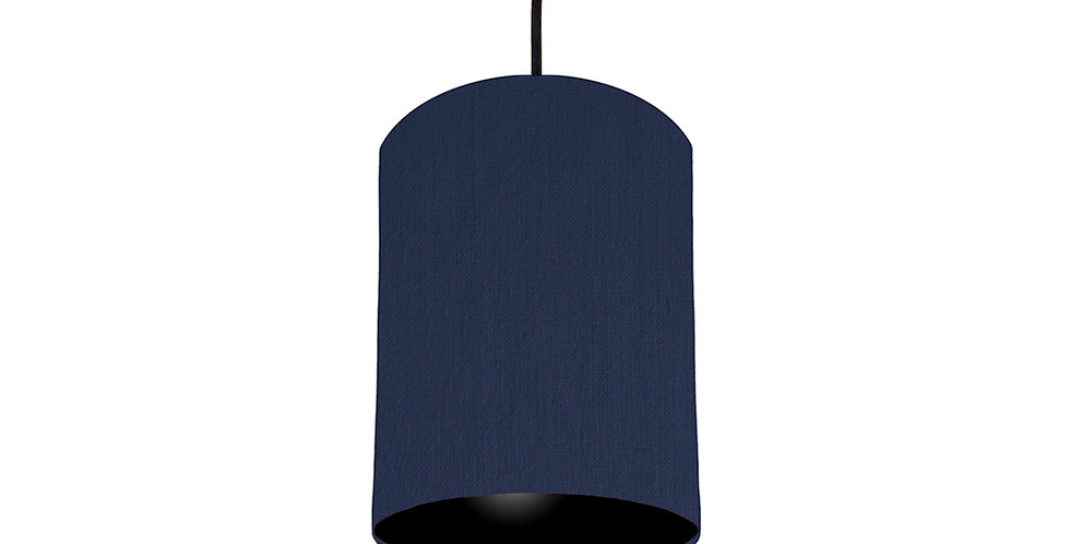 Navy Blue & Black Lampshade - 15cm Wide