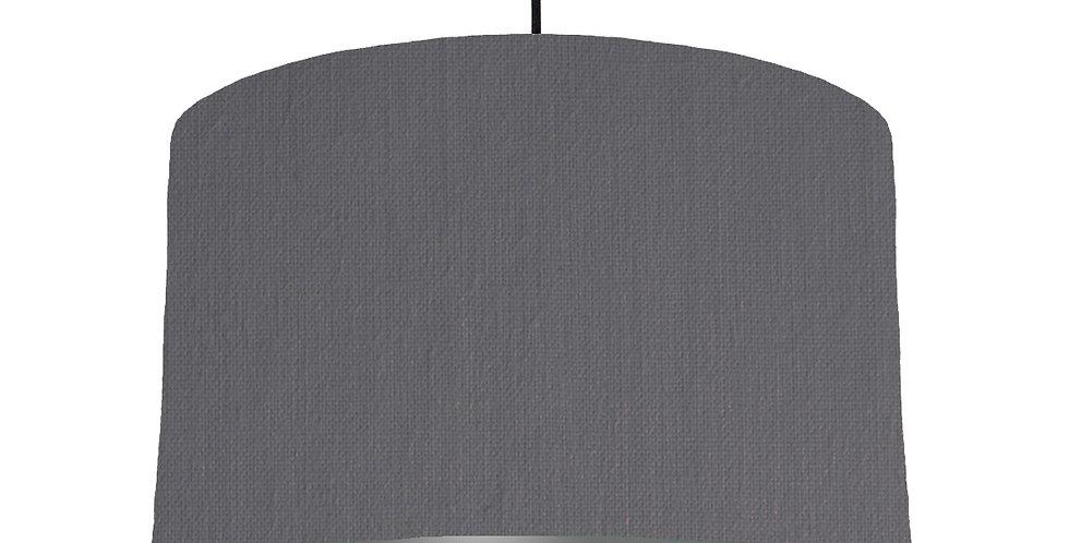 Dark Grey & Dark Grey Lampshade - 40cm Wide