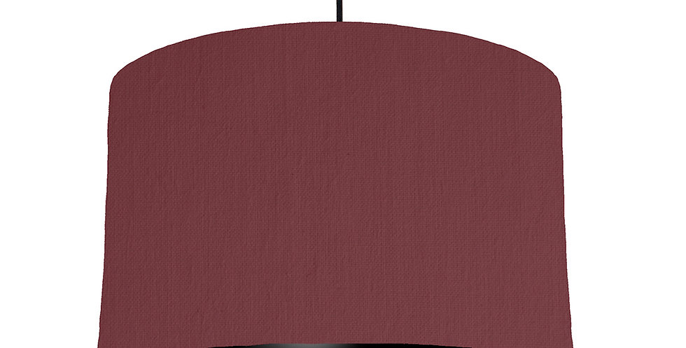 Wine Red & Black Lampshade - 40cm Wide