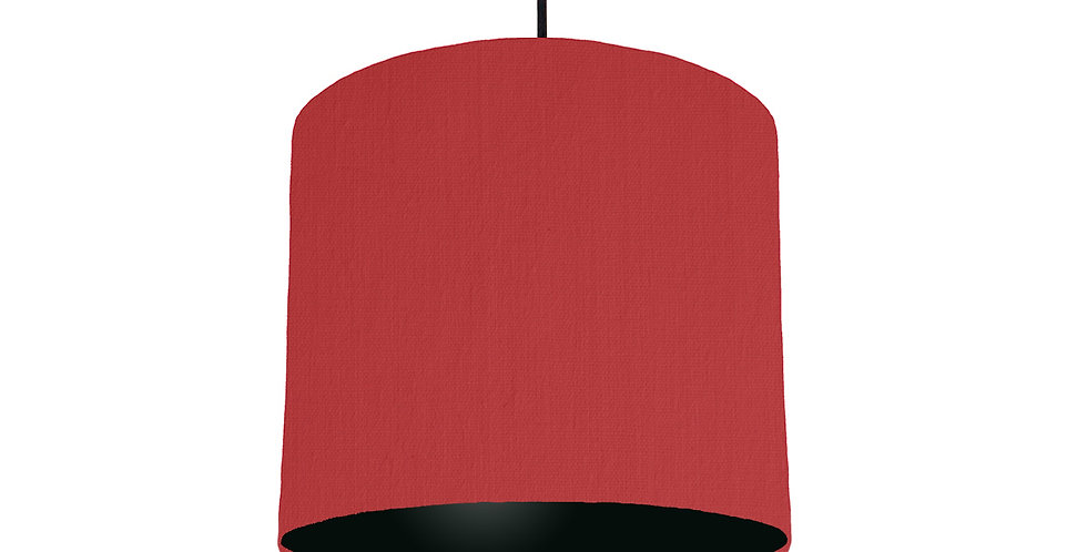 Red & Black Lampshade - 25cm Wide