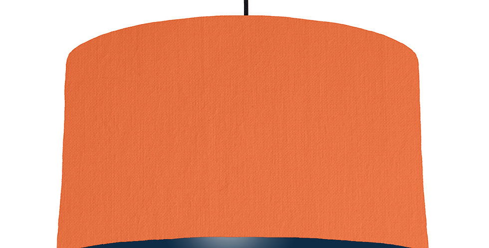 Orange & Navy Lampshade - 50cm Wide