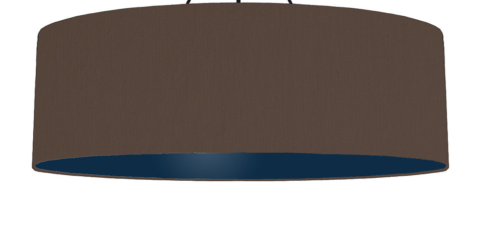Brown & Navy Lampshade - 100cm Wide