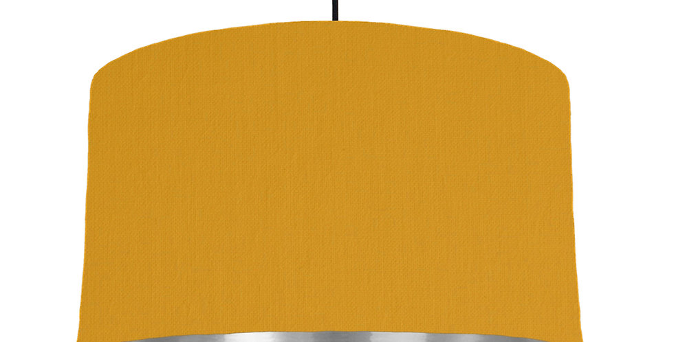 Mustard & Silver Mirrored Lampshade - 50cm Wide