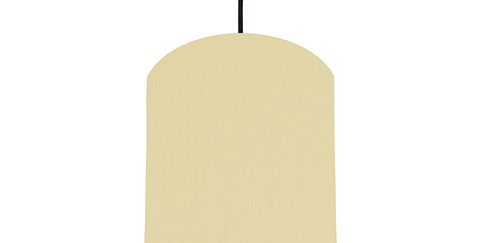 Natural & Light Blue Lampshade - 20cm Wide