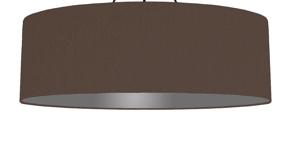 Brown & Dark Grey Lampshade - 100cm Wide