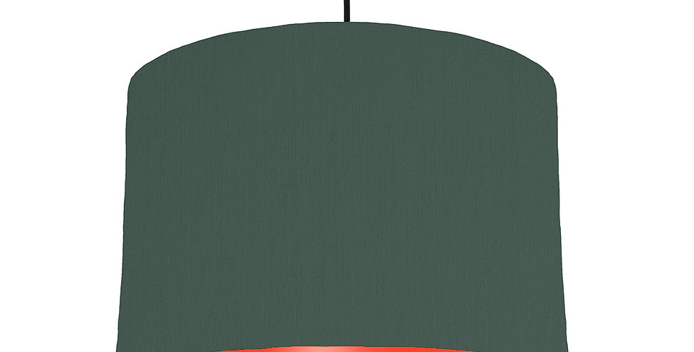 Bottle Green & Poppy Red Lampshade - 30cm Wide