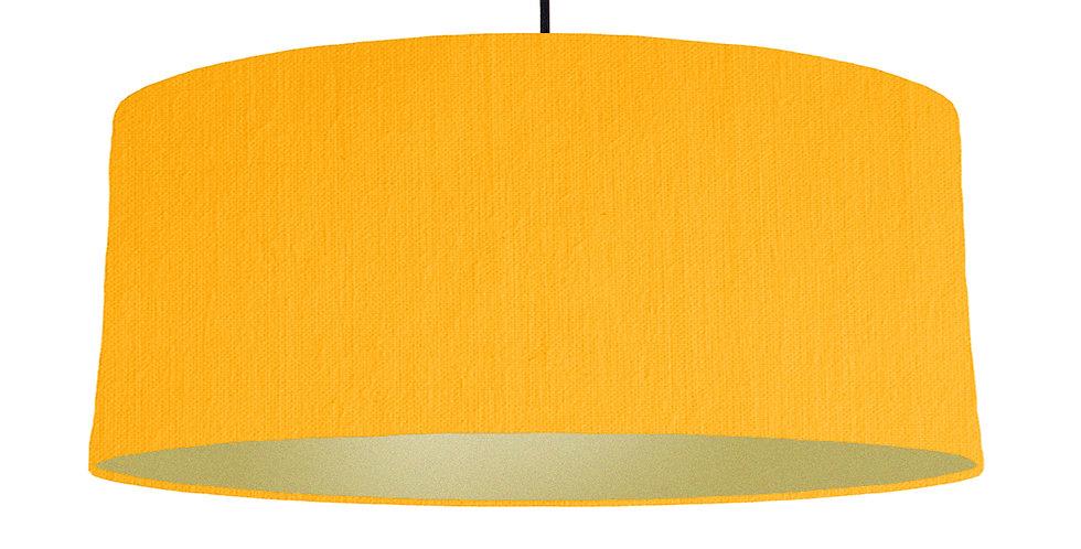 Sunshine & Gold Matt Lampshade - 70cm Wide