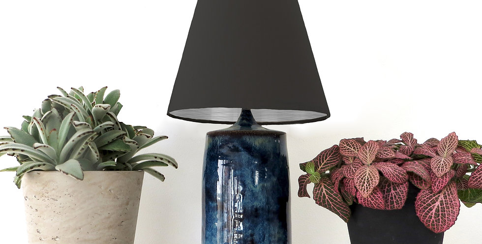 Conical Lampshade (10Tx20Bx20H) - Brushed Silver lining