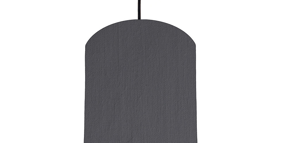 Dark Grey & Wood Lined Lampshade - 20cm Wide