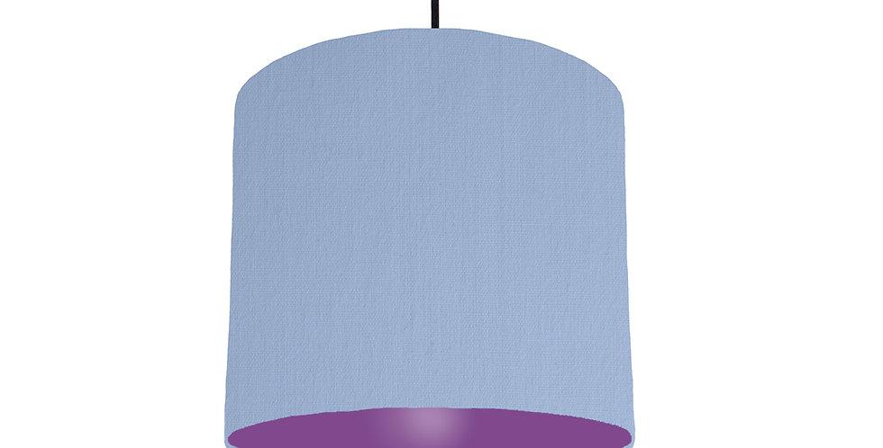 Sky Blue & Purple Lampshade - 25cm Wide