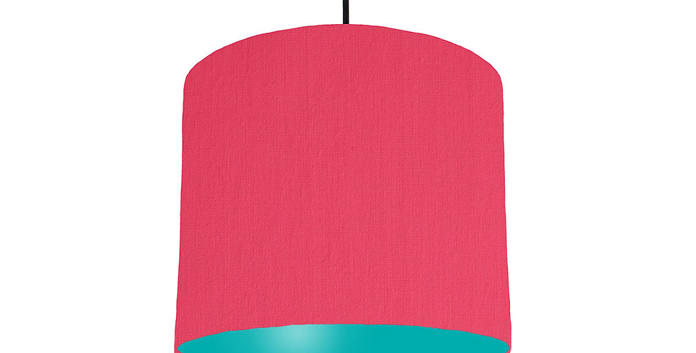 Cerise & Turquoise Lampshade - 25cm Wide