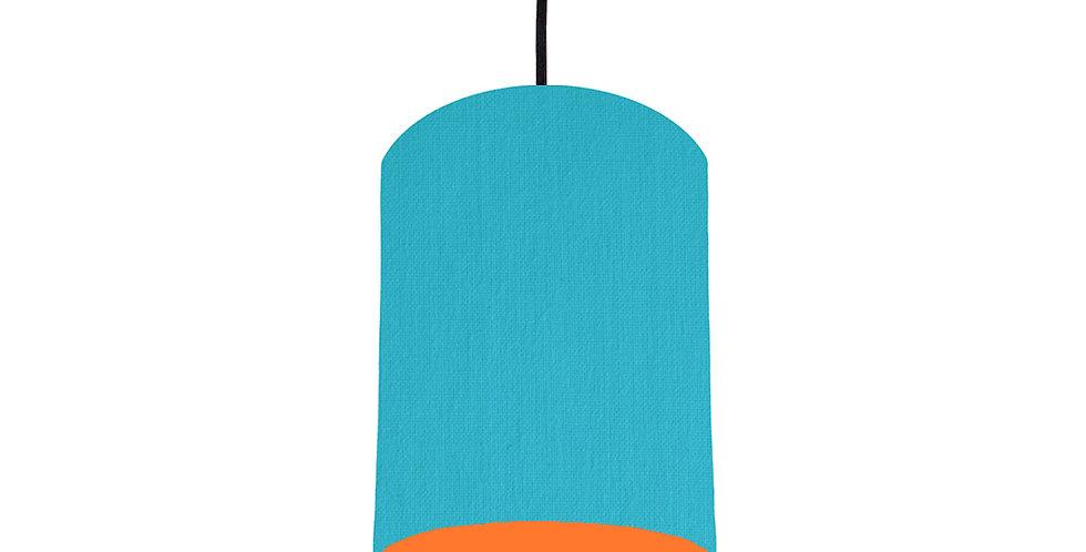 Turquoise & Orange Lampshade - 15cm Wide
