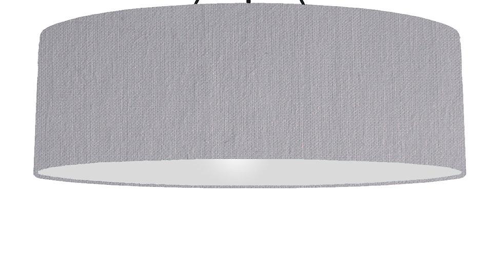 Light Grey & Light Grey Lampshade - 100cm Wide
