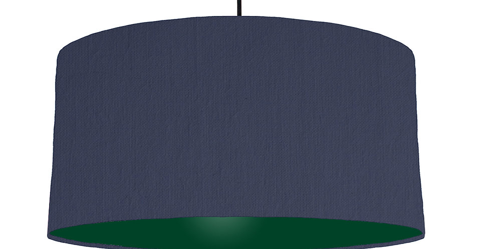 Navy Blue & Forest Green Lampshade - 60cm Wide