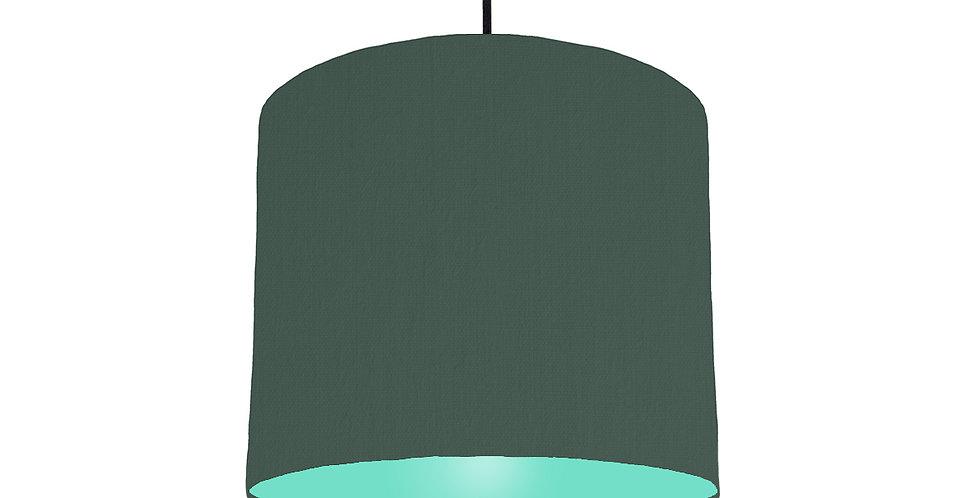 Bottle Green & Mint Lampshade - 25cm Wide