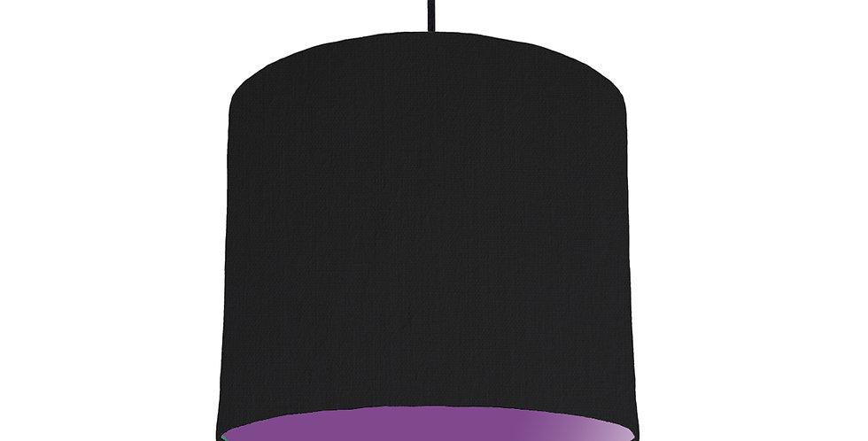 Black & Purple Lampshade - 25cm Wide