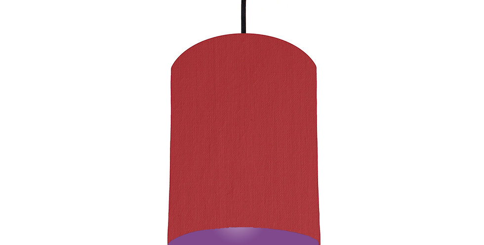 Red & Purple Lampshade - 15cm Wide