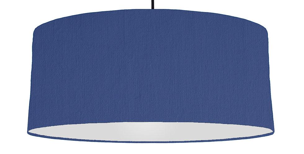 Royal Blue & Light Grey Lampshade - 70cm Wide
