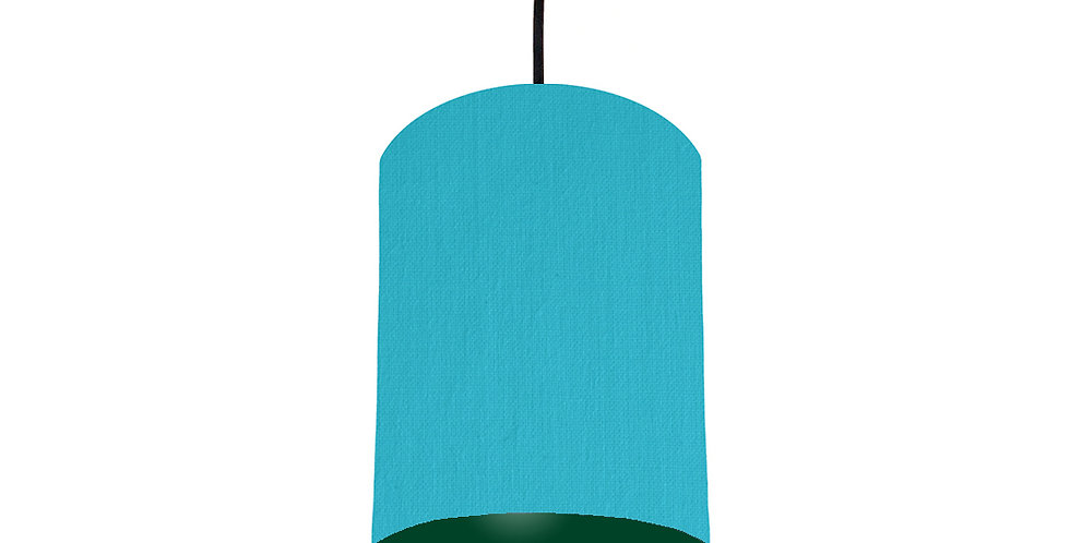 Turquoise & Forest Green Lampshade - 15cm Wide