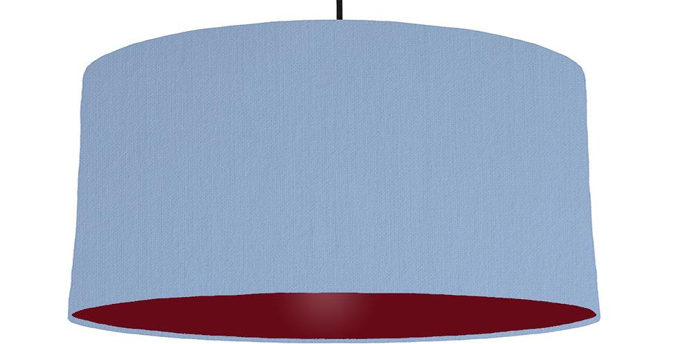 Sky Blue & Burgundy Lampshade - 60cm Wide