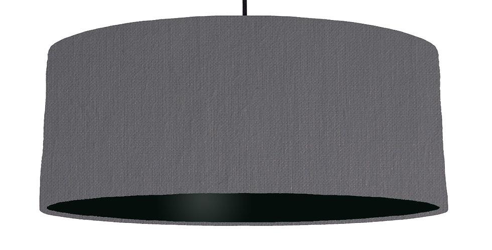 Dark Grey & Black Lampshade - 70cm Wide
