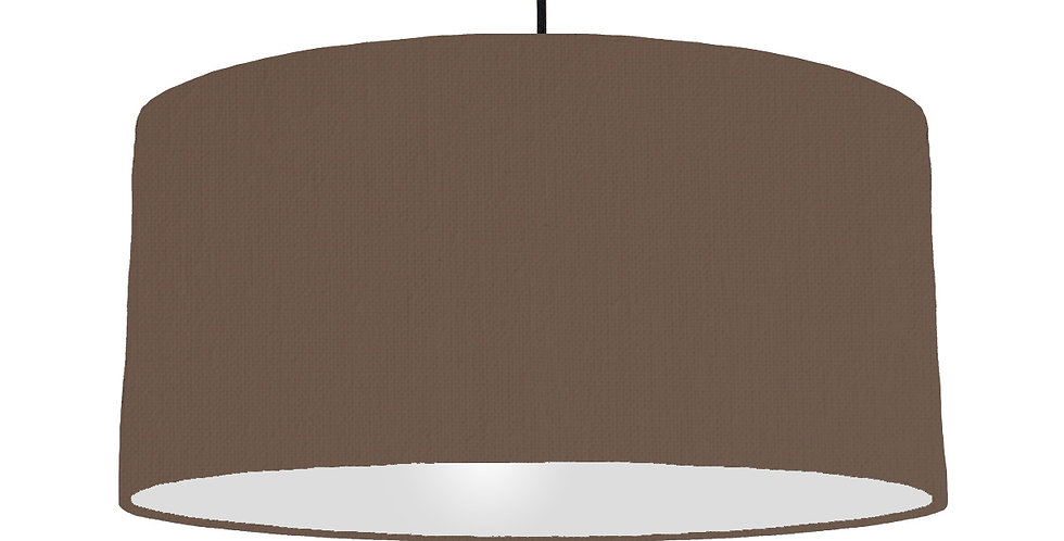 Brown & Light Grey Lampshade - 60cm Wide
