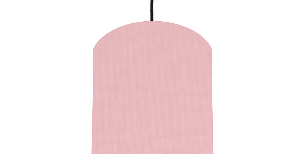Pink & Wood Lined Lampshade - 20cm Wide