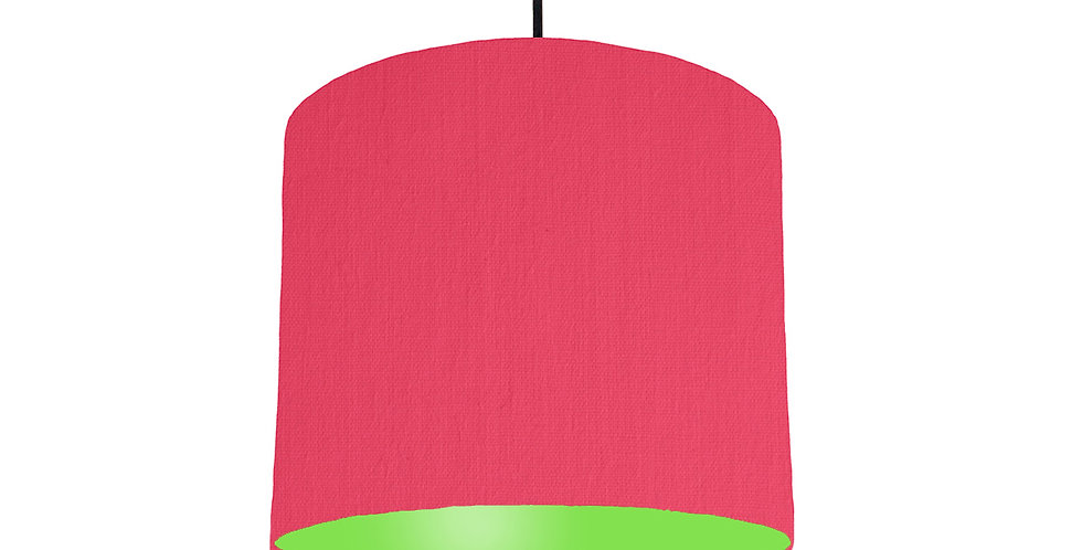 Cerise & Lime Green Lampshade - 25cm Wide