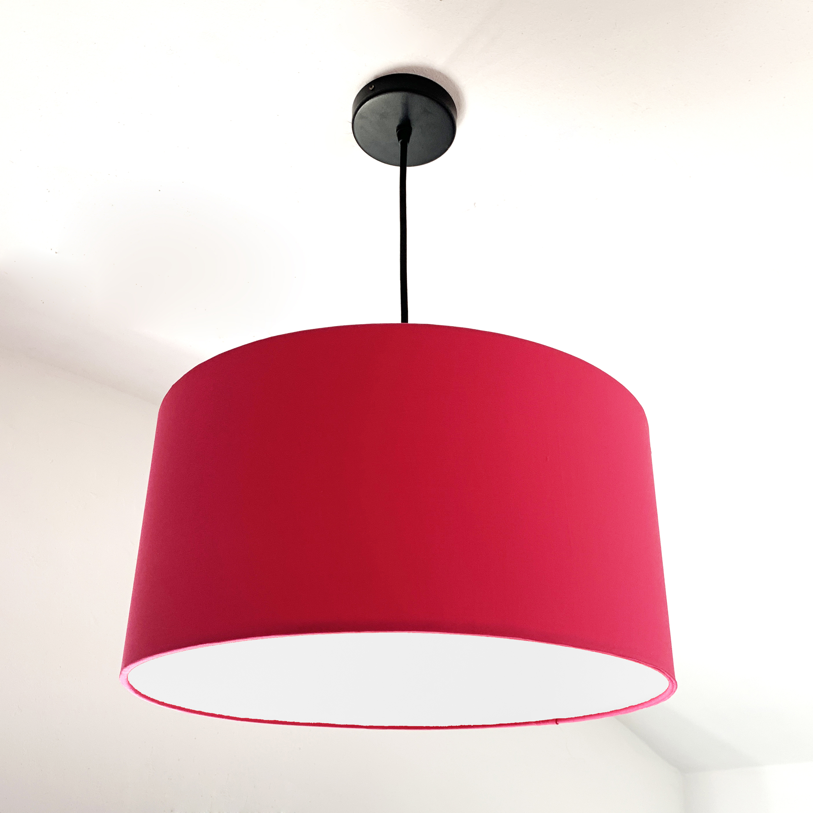 Pink & white lampshade