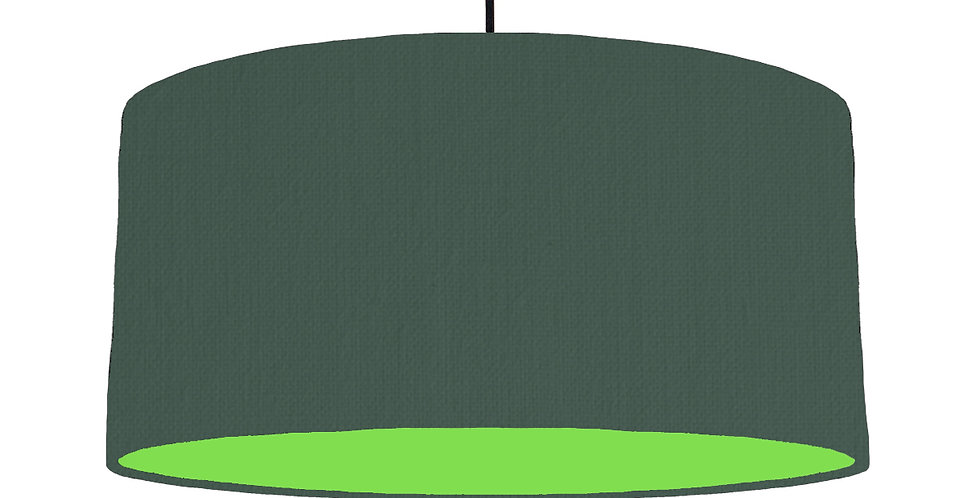 Bottle Green & Lime Green Lampshade - 60cm Wide