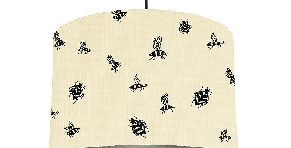 Bumble Bee Lampshade - Natural & Dark Grey