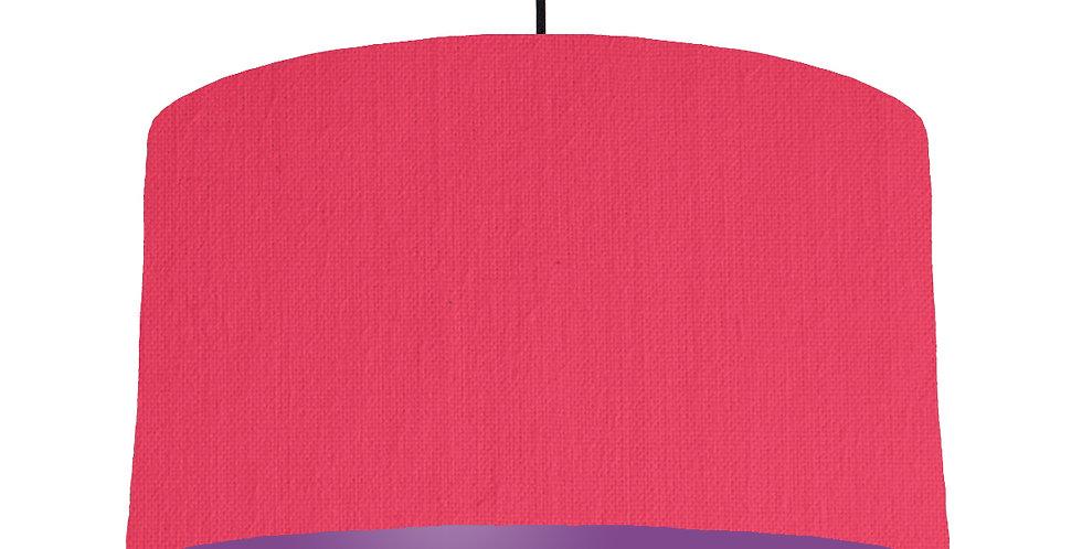 Cerise & Purple Lampshade - 50cm Wide