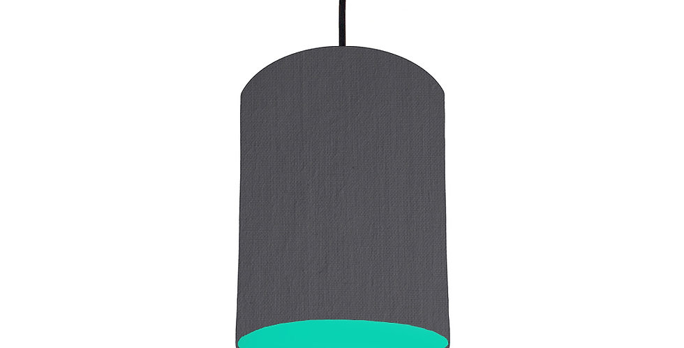 Dark Grey & Turquoise Lampshade - 15cm Wide