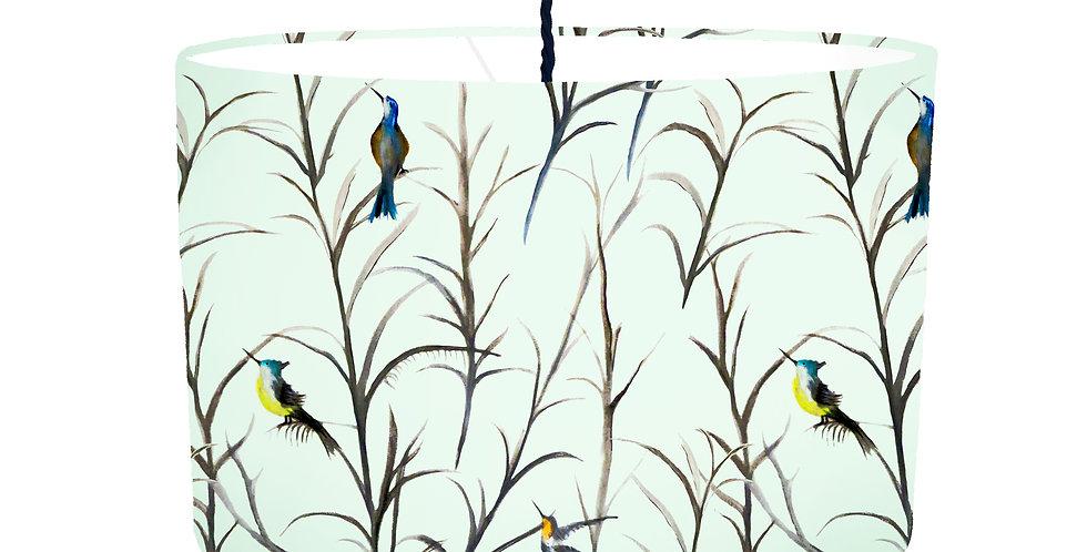 Watercolour Bird Lampshade - White Lining