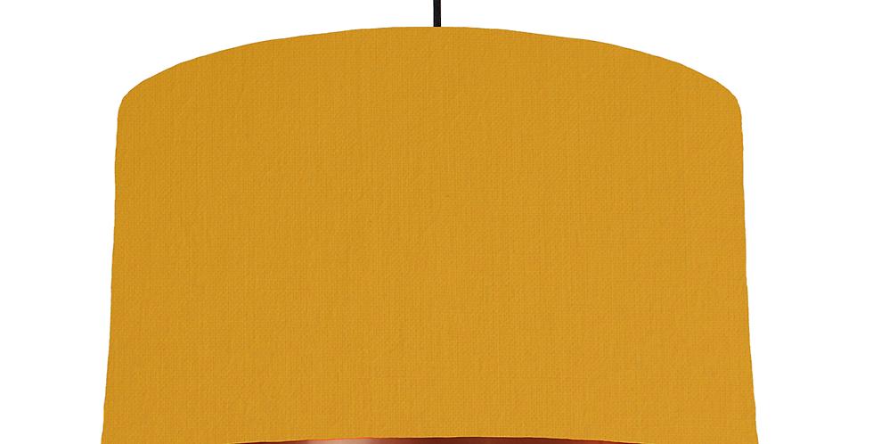 Mustard & Copper Mirrored Lampshade - 50cm Wide