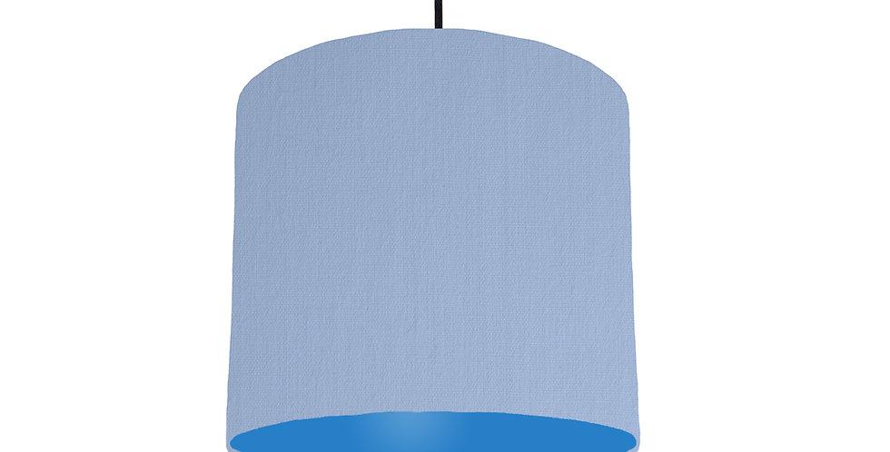 Sky Blue & Bright Blue Lampshade - 25cm Wide