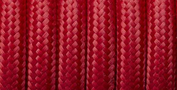 Red - Industville Round Fabric Cable