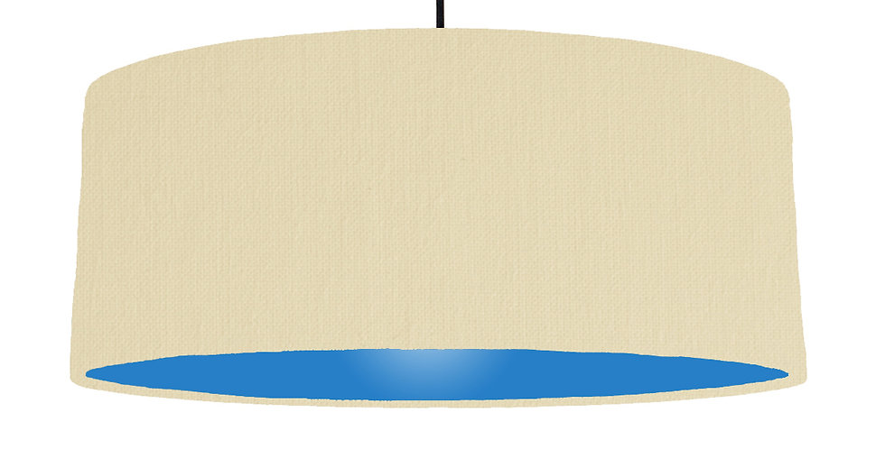 Natural & Bright Blue Lampshade - 70cm Wide