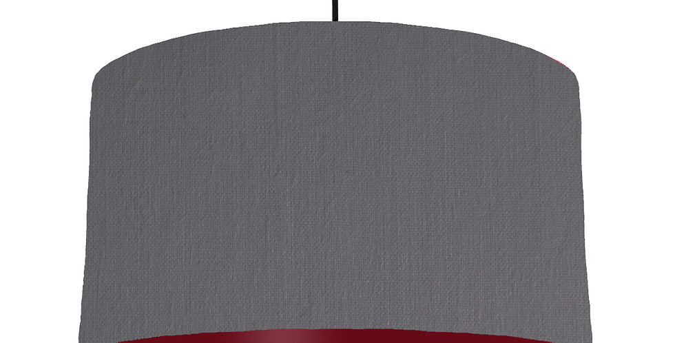 Dark Grey & Burgundy Lampshade - 50cm Wide