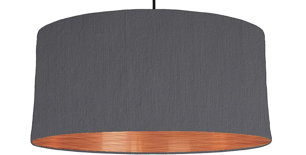 Dark Grey & Brushed Copper Lampshade - 60cm Wide
