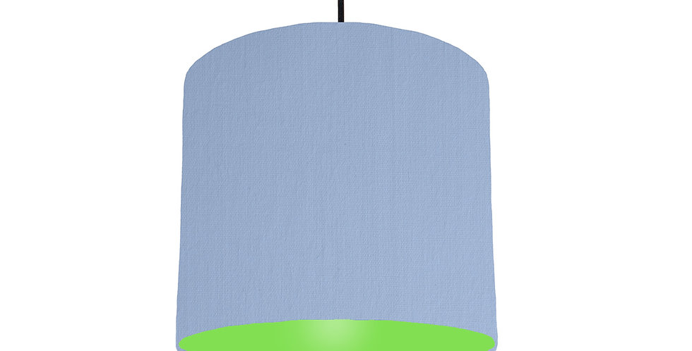 Sky Blue & Lime Green Lampshade - 25cm Wide