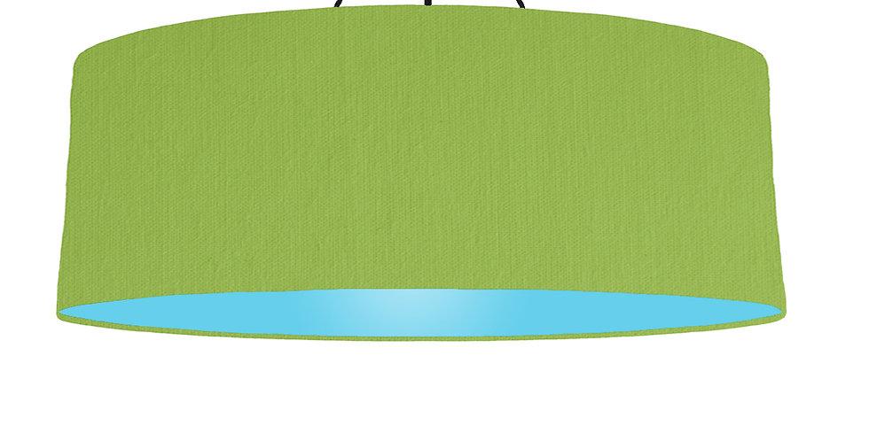 Pistachio & Light Blue Lampshade - 100cm Wide