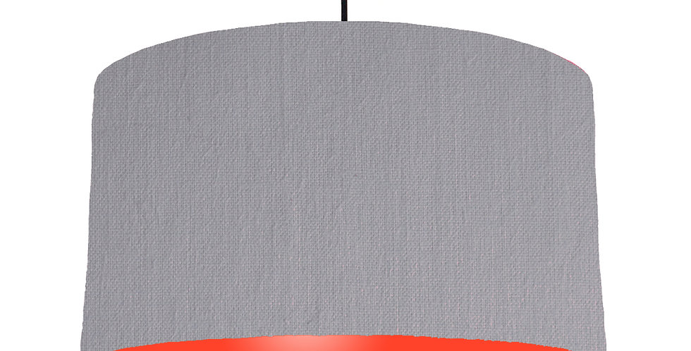 Light Grey & Poppy Red Lampshade - 50cm Wide