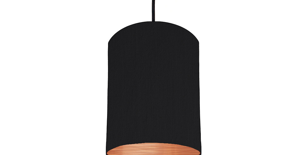 Black & Brushed Copper Lampshade - 15cm Wide