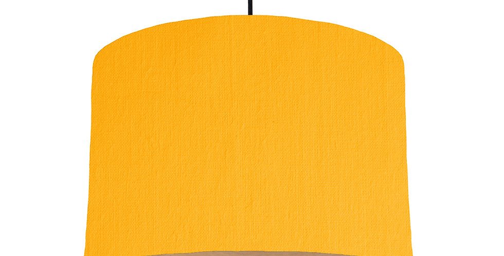 Sunshine & Wood Lined Lampshade - 30cm Wide