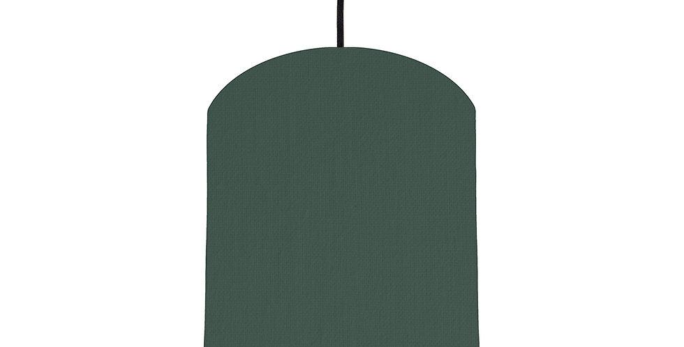 Bottle Green & Mint Lampshade - 20cm Wide