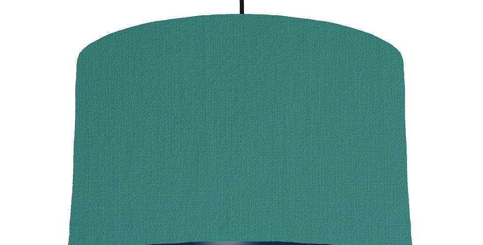 Jade & Navy Lampshade - 40cm Wide